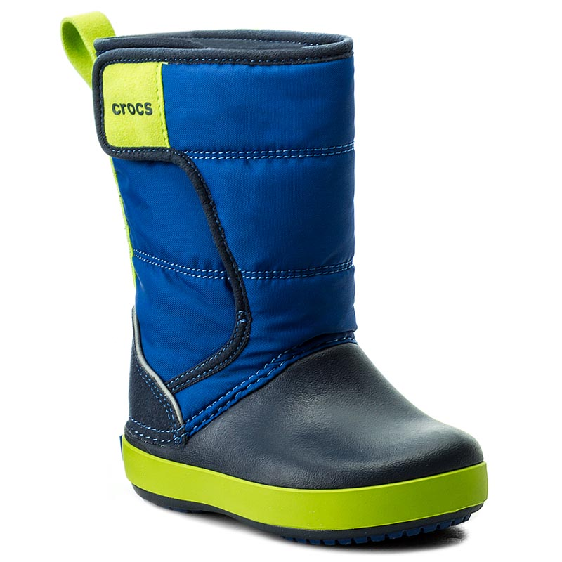 48008190bf Sněhule CROCS - Lodgepoint Snow Boot K 204660 Blue Jean Navy