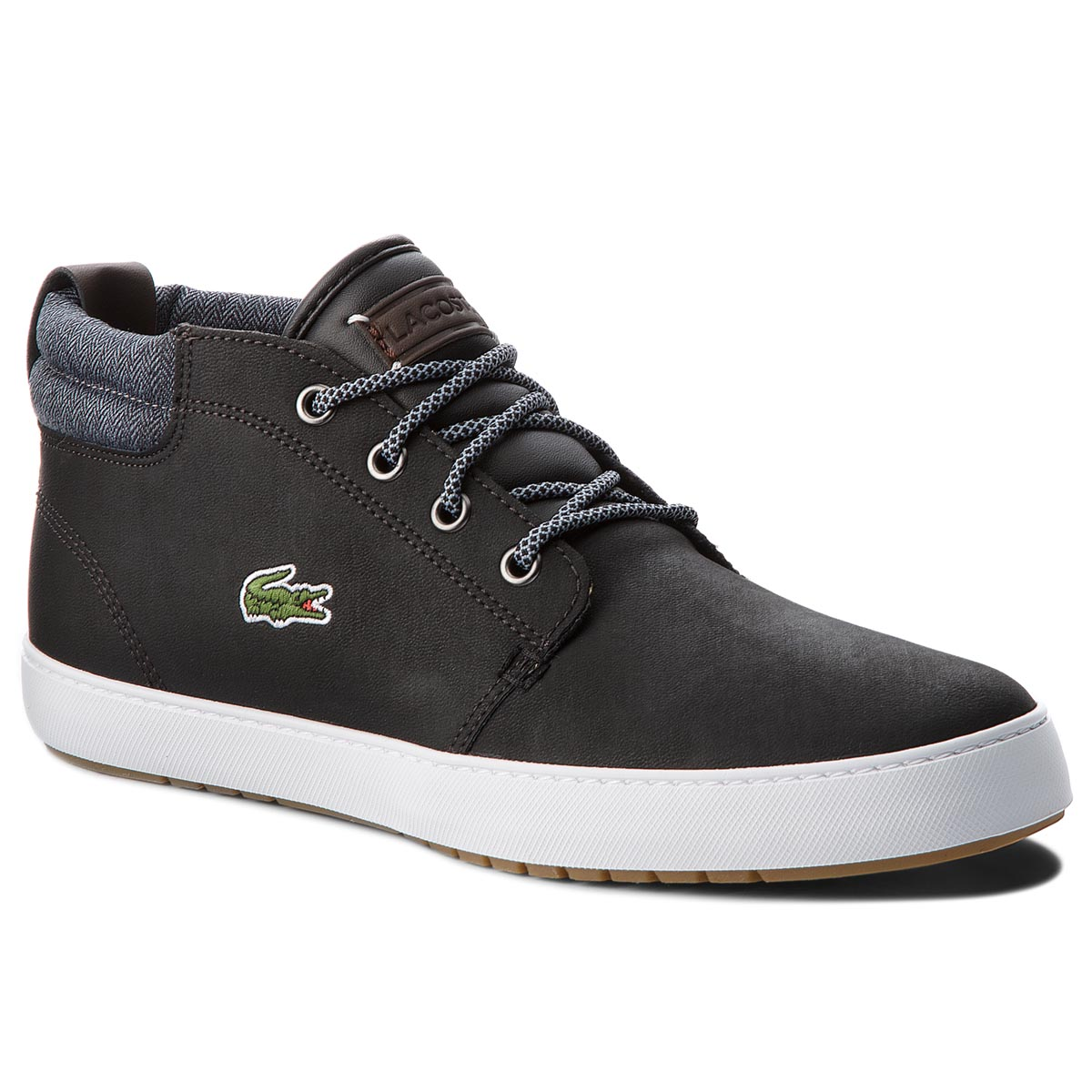 Sneakersy LACOSTE - Ampthill Terra 318 1 Cam 7-36CAM0005231 Blk/Gry
