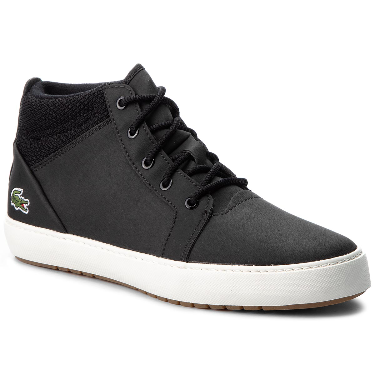 Sneakersy LACOSTE - Ampthill 318 1 Caw 7-36CAW0003454 Blk/Off Wht