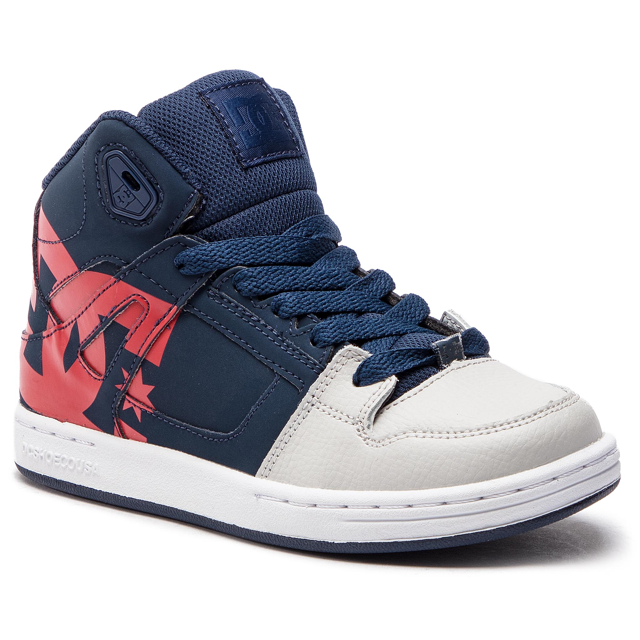 1a5efb00072cd Sneakersy DC - Pure High-Top Sp ADBS100258 Navy/Grey (Ngh)