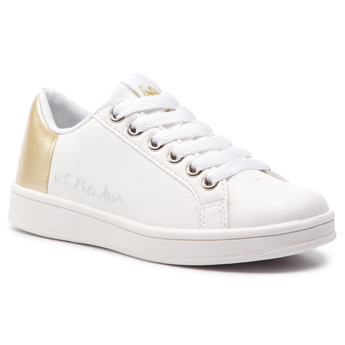 Sneakersy U.S. POLO ASSN. - Ginevra ECROK4114S9/Y1 Whi/Gold