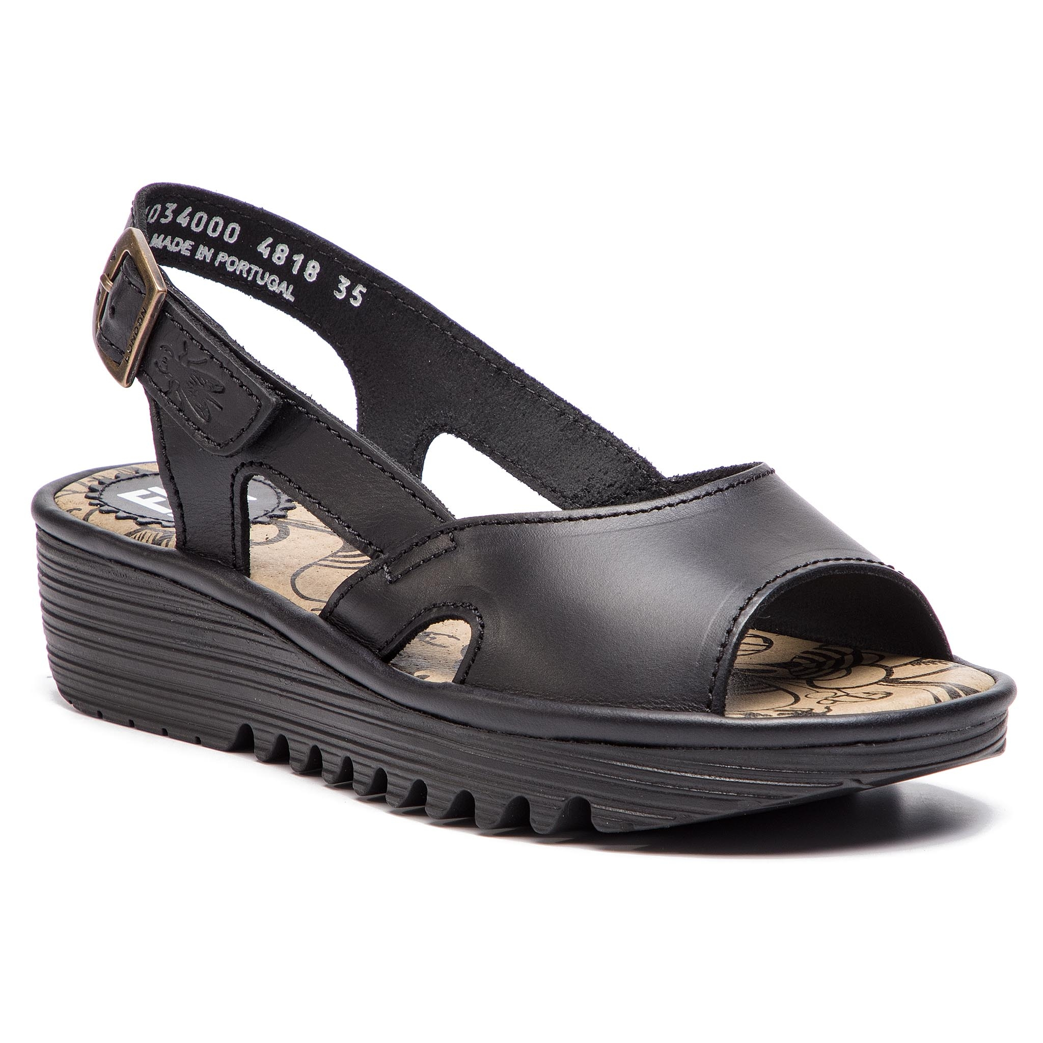 Sandály FLY LONDON - Edonfly P501034000 Black