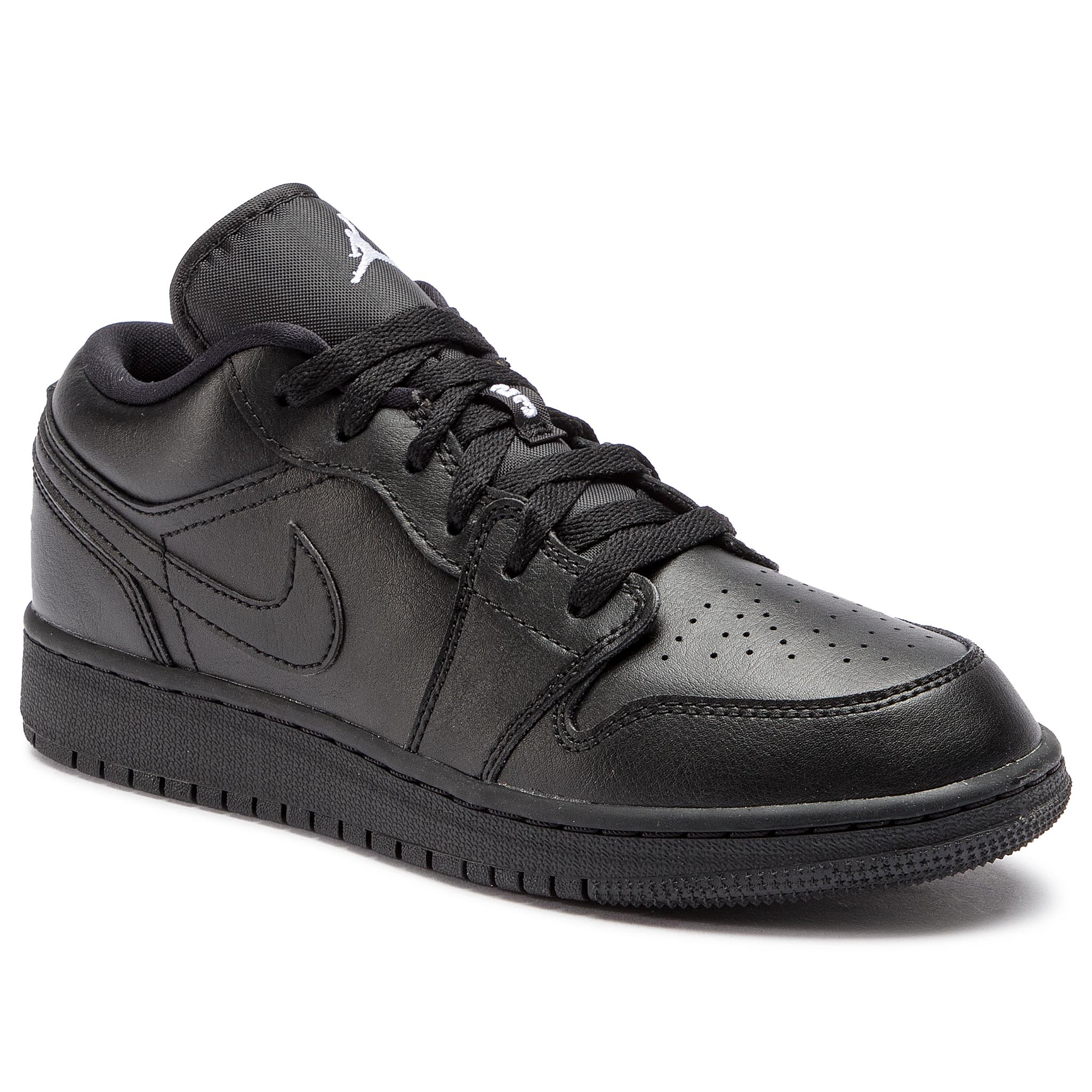0e2fc5dcbe517 Boty NIKE - Air Jordan 1 Low (GS) 553560 006 Black/White/