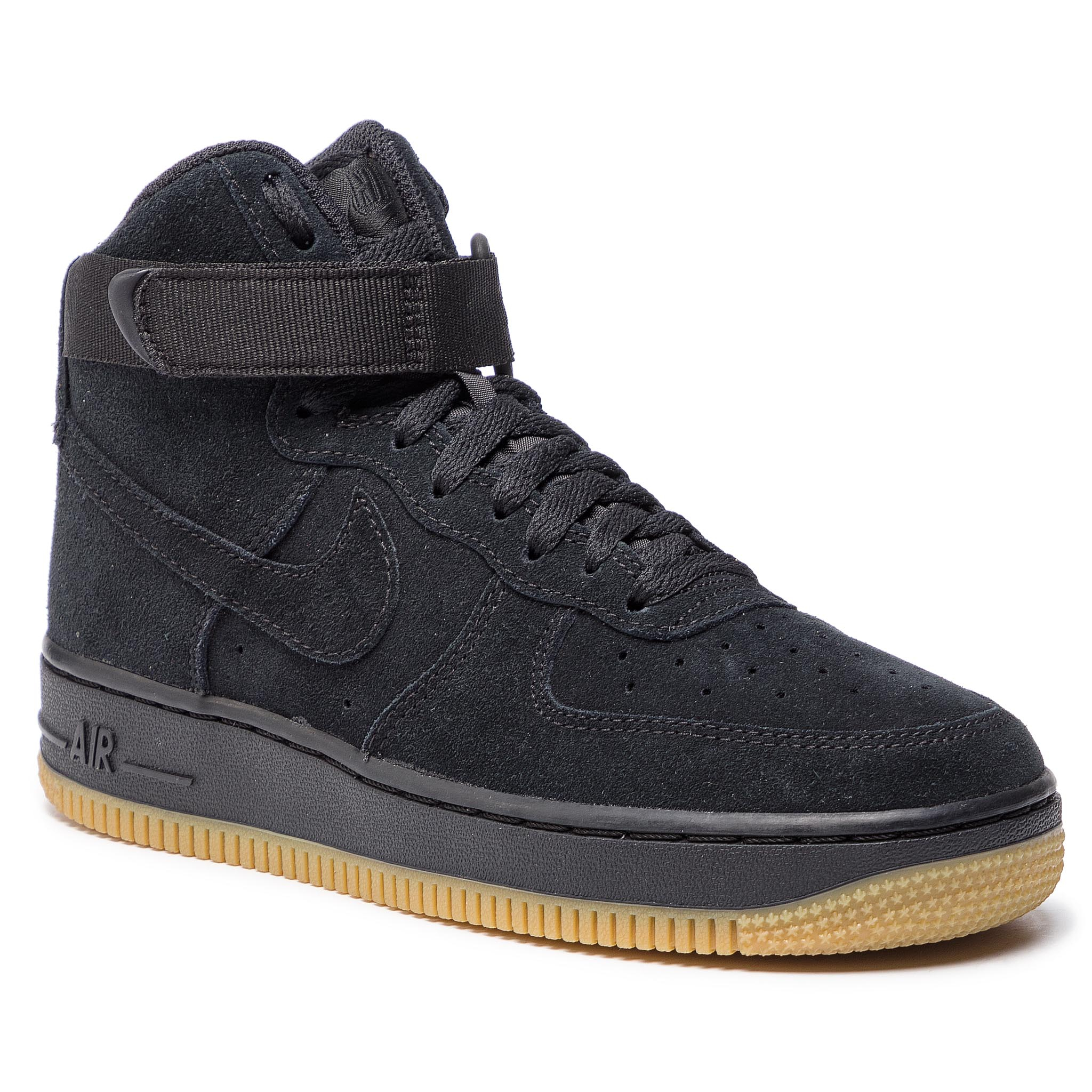 eda39f75d32b9 Boty NIKE - Air Force 1 High Lv8 (GS) 807617 002 Black/Black