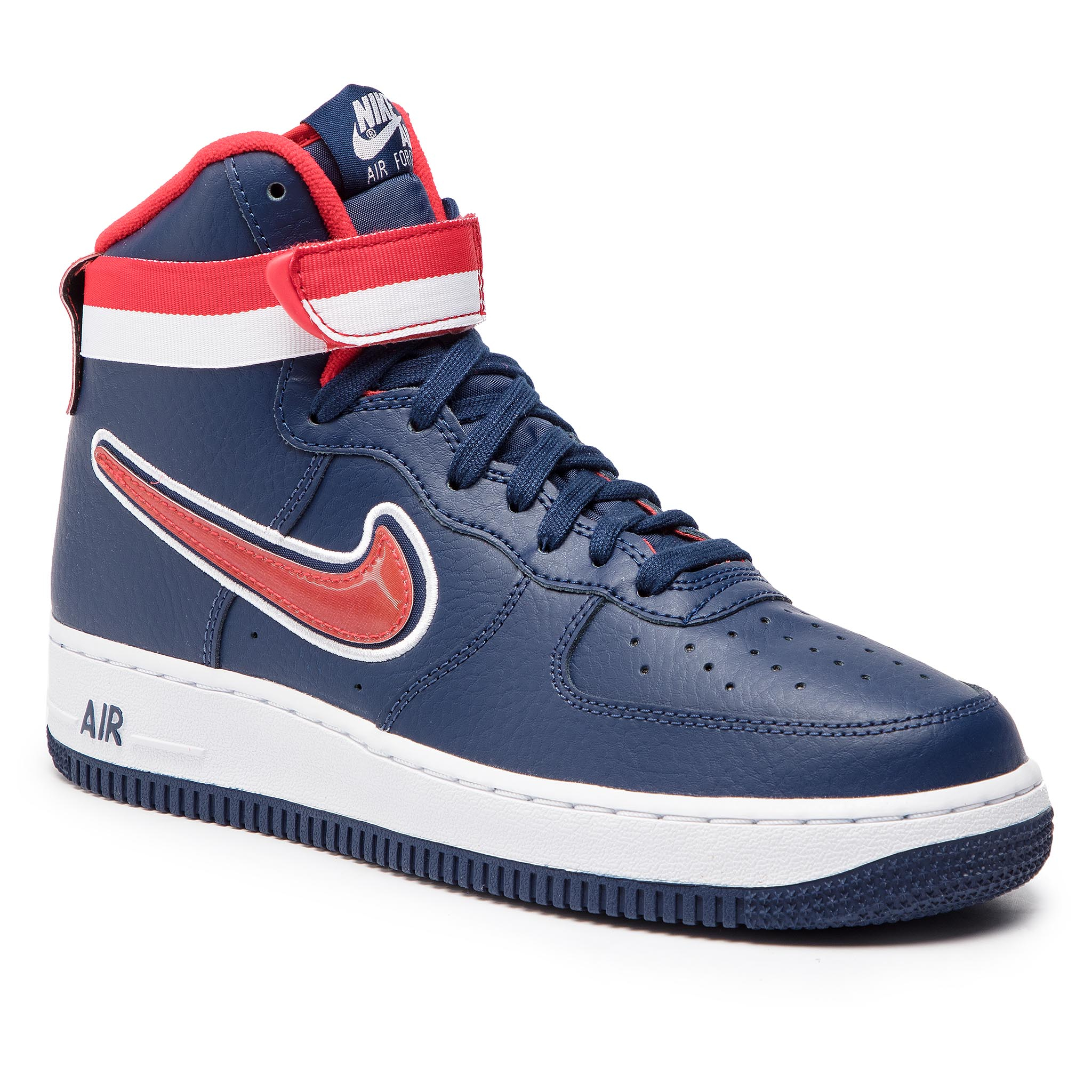 6082fc3446811 Boty NIKE - Air Force 1 High '07 Lv 8 Sport AV3938 400 Midnight Navy