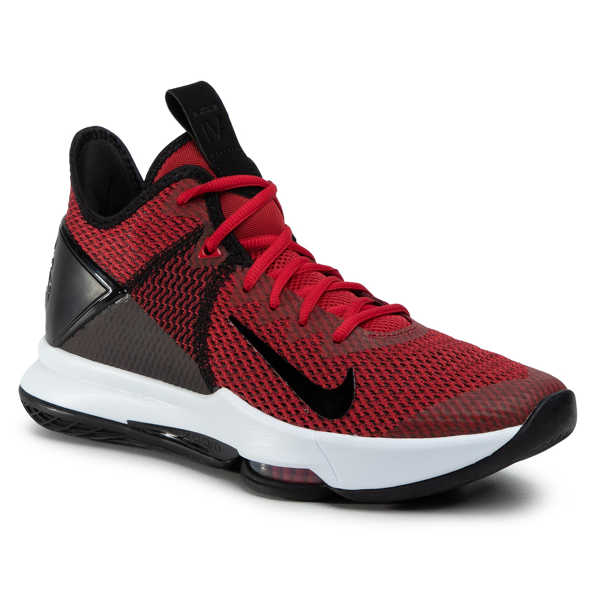 Boty NIKE - Lebron Witness IV BV7427 002 Black/Gym Red/White
