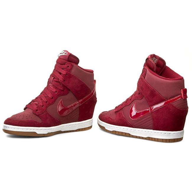 cheap for discount 180c0 60b68 Boty NIKE - Wmns Dunk Sky Hi Essential 644877 603 Team Red Tm Red