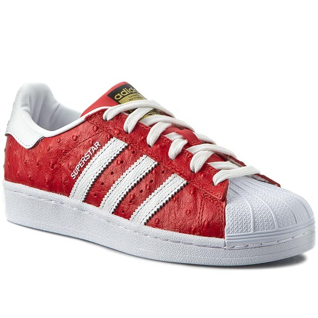 Boty adidas - Superstar Animal S75158 Red Ftwwht Goldmt - Sneakersy ... 37c9bd2e29e