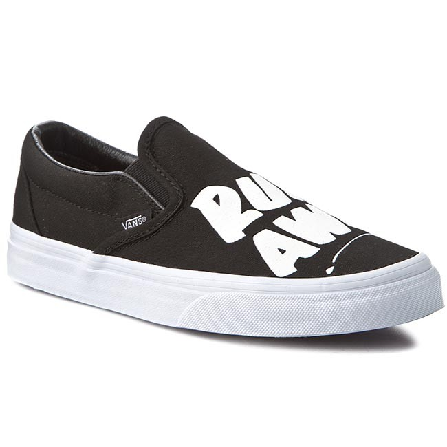 Tenisky VANS - Classic Slip-On VN0003Z4I9Z Black White (Baron Von Fancy) ceac546baf
