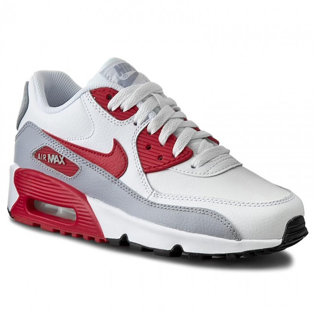 Boty NIKE - Air Max 90 Ltr (Gs) 833412 106 White Unvsty Red Wlf Gry ... 5ef32d06ff