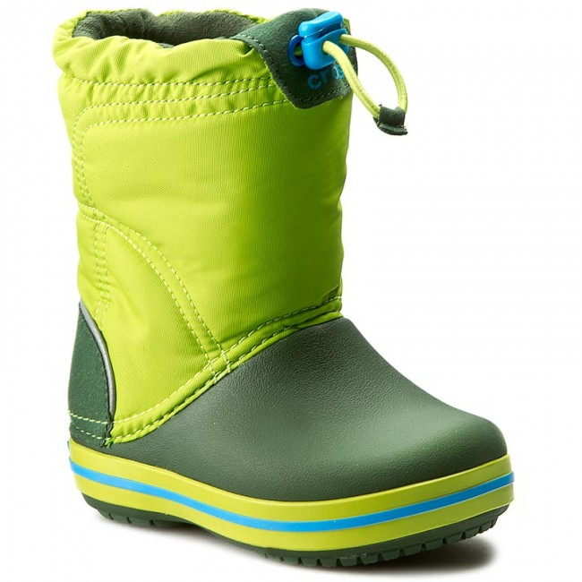 Sněhule CROCS - Crocband Lodgepoint Boot K 203509 Lime Forest ... 5597e829ac