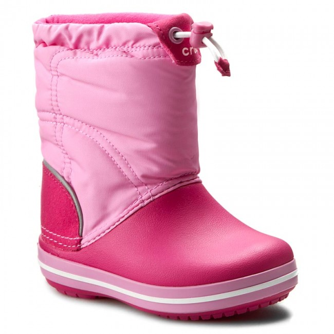 Sněhule CROCS - Crocband Lodgepoint Boot K 203509 Candy Pink Party Pink 8fff6920ab