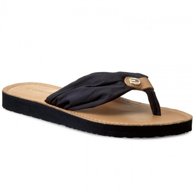 Žabky TOMMY HILFIGER - Leather Footbed Beach Sandal FW0FW00475 ... 6b47a6e4ef