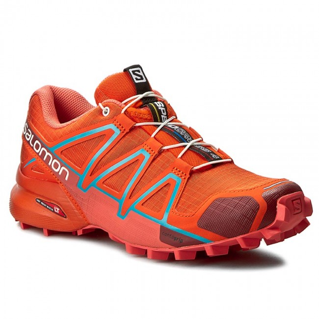 43968ee7a50 Boty SALOMON - Speedcross 4 W 391834 Tomato Red Coral Punch Blue Jay ...
