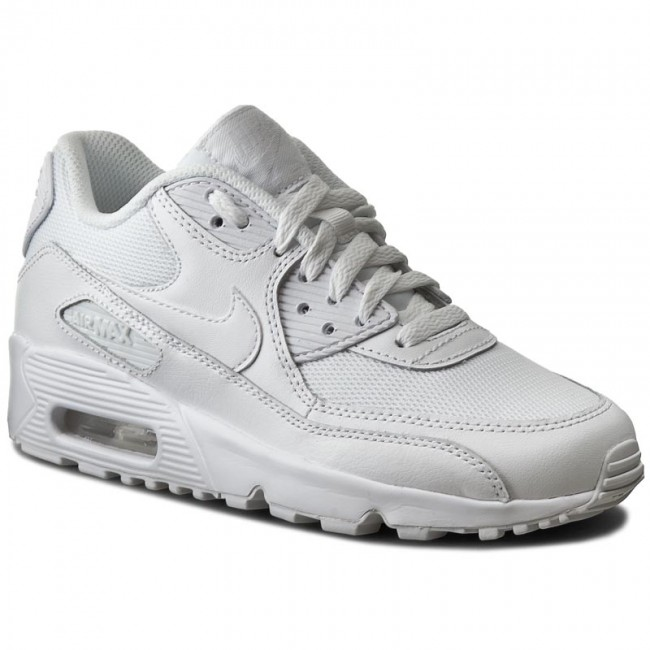 Boty NIKE - Air Max 90 Mesh (GS) 833418 100 White White - Sneakersy ... 0d995c0d1ae