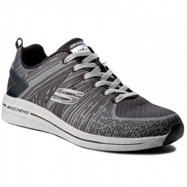 8af0a598a2a Boty SKECHERS - In The Mix II 52615 GYBK Gray Black - Fitness ...