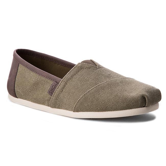 Polobotky TOMS - Classic 10009900 Olive Washed Canvas Trim ... 600d9674aa