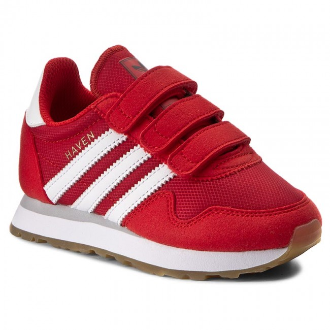 Boty adidas - Haven Cf C BY9484 Red Ftwwht Ftwwht - Na suchý zip ... 721e7719bf3