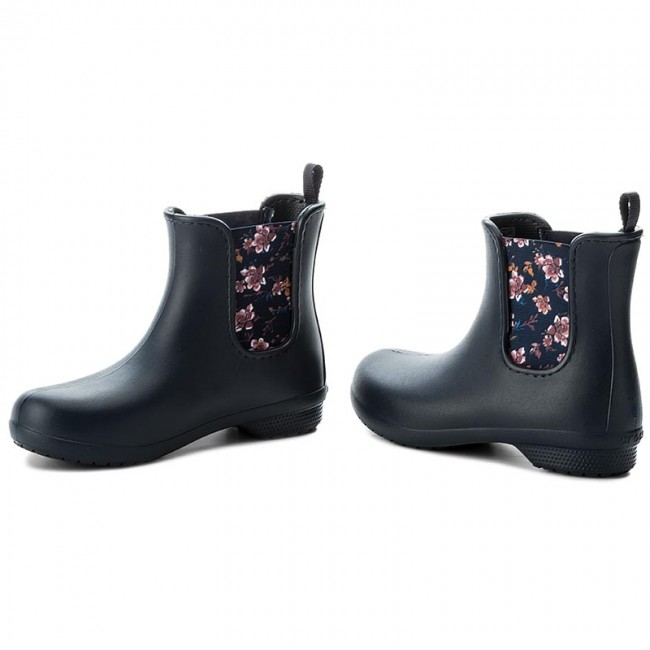 Holínky CROCS - Freesail Chelsea Boot W 204630 Navy Floral - Holinky ... f55b799d4d