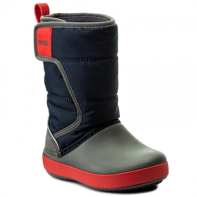 Sněhule CROCS - Lodgepoint Snow Boot K 204660 Navy Slate Grey ... bfdd721481