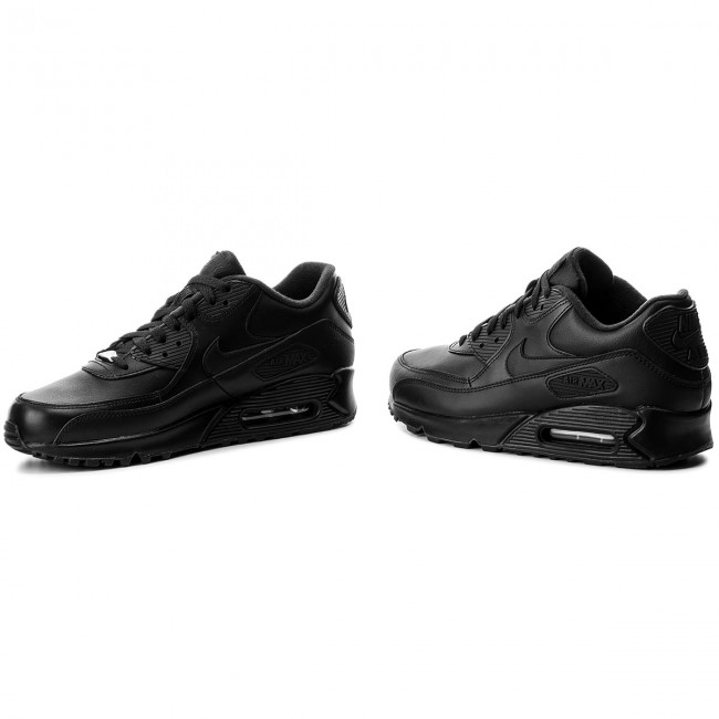 Boty NIKE - Air Max 90 Leather 302519 001 Black Black - Sneakersy ... fe0584f7f75