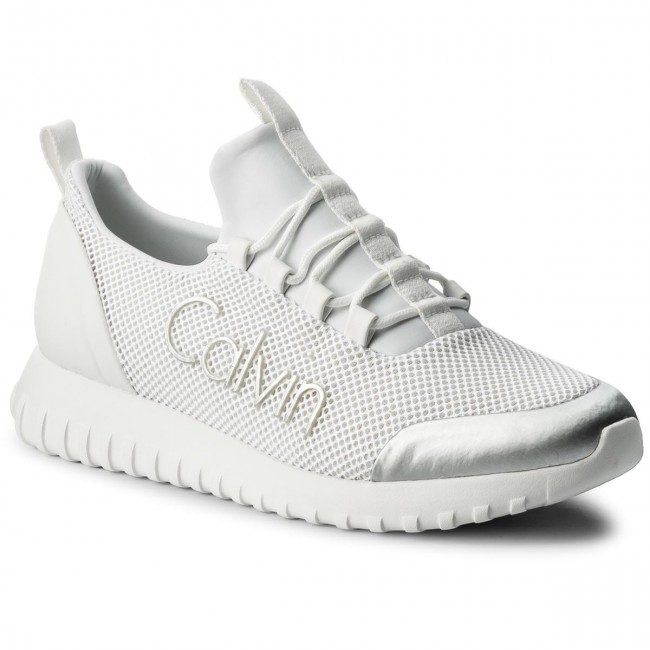 Sneakersy CALVIN KLEIN JEANS - Ron S0506 White Silver - Sneakersy ... 620c07c8c1d
