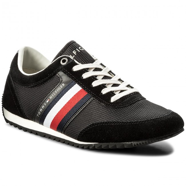 Sneakersy TOMMY HILFIGER - Corporate Material Mix Runner FM0FM01314 Black  990 830de47bed