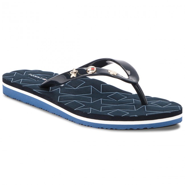 a4d85d434d6 Žabky TOMMY HILFIGER - Metallic Star Beach Sandal FW0FW02371 Midnight 403