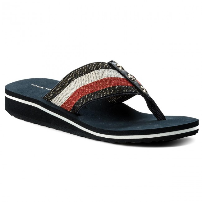 Žabky TOMMY HILFIGER - Elevated Corporate Beach Sandal FW0FW02653 Rwb 020 f0cd0427a9