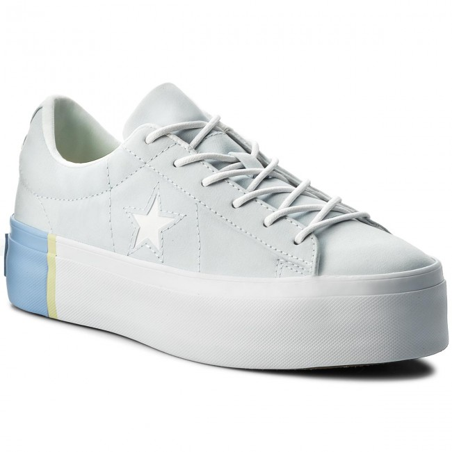 Sneakersy CONVERSE - One Star Platform Ox 559903C Blue Tint Blue Chill White e9a478965f