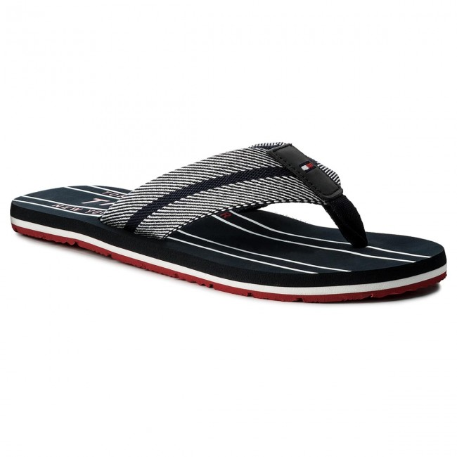 Žabky TOMMY HILFIGER - Stripes Print Th Beach Sandal FM0FM01499 Midnight 403 4dc2b48505