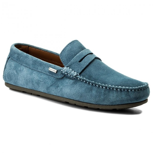 Mokasíny TOMMY HILFIGER - Classic Suede Penny Loafer FM0FM01168 Jeans 013 d95adf718a