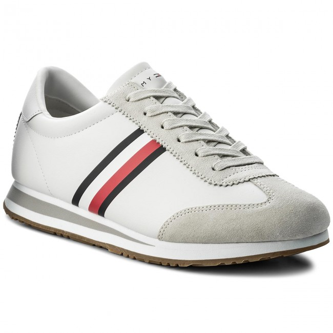 daf6defe46ebf Sneakersy TOMMY HILFIGER - Core Corporate Sneaker FM0FM01311 White 100