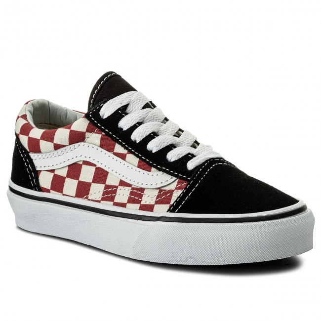 Tenisky VANS - Old Skool VN0A38HB35U (Checkerboard) Black Red ... 661d99d8771