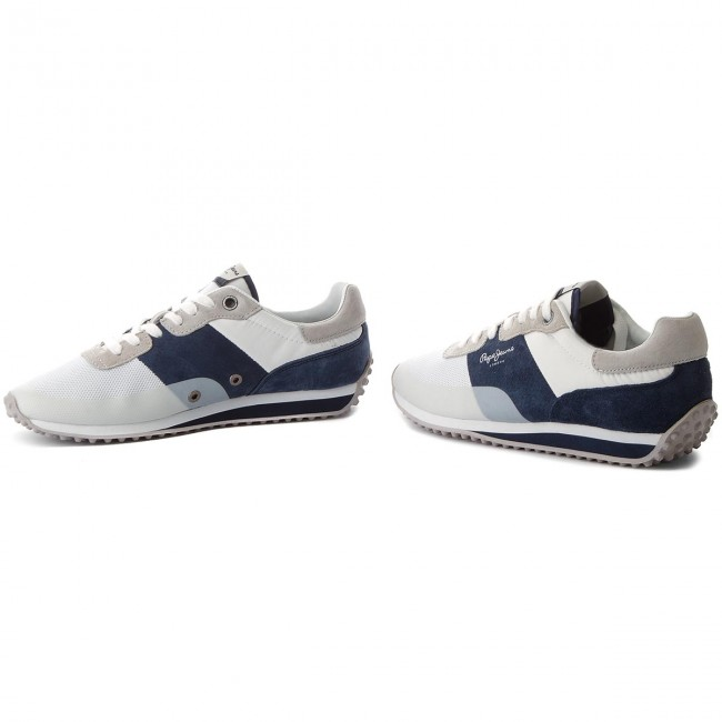 Sneakersy PEPE JEANS - Garret Sailor PMS30405 White 800 - Sneakersy ... 7ea956f9f1