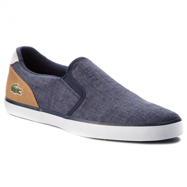 Tenisky LACOSTE - Jouer Slip On 218 1 Cam 7-35CAM0050NT9 Nvy Lt Tan ... 3252b813eb