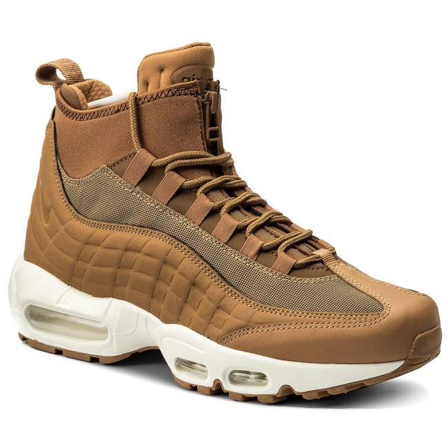 Boty NIKE - Air Max 95 Sneakerboot 806809 201 Flax Flax Ale Brown ... 43059a2494d