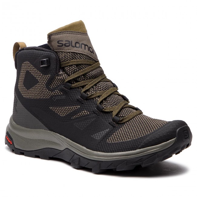 Trekingová obuv SALOMON - Outline Mid Gtx GORE-TEX 404763 27 V0 Black Beluga be465a182b