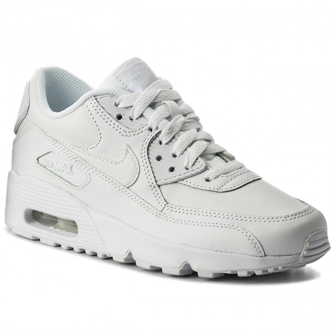 Boty NIKE - Air Max 90 Ltr (GS) 833412 100 White White - Sneakersy ... 8622f3abdb4