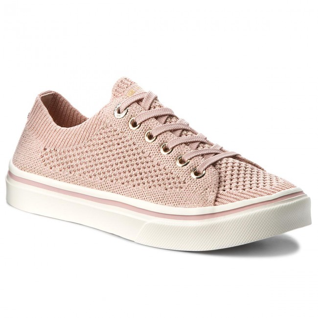 Tenisky TOMMY HILFIGER - Knitted Light Weight Lace Up FW0FW03362 Dusty Rose  502 b46c5a225d8