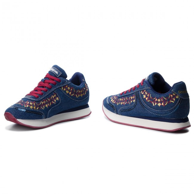 Sneakersy DESIGUAL - Galaxy Exotic Denim 18WSKD01 5053 - Sneakersy ... a805881c3ff