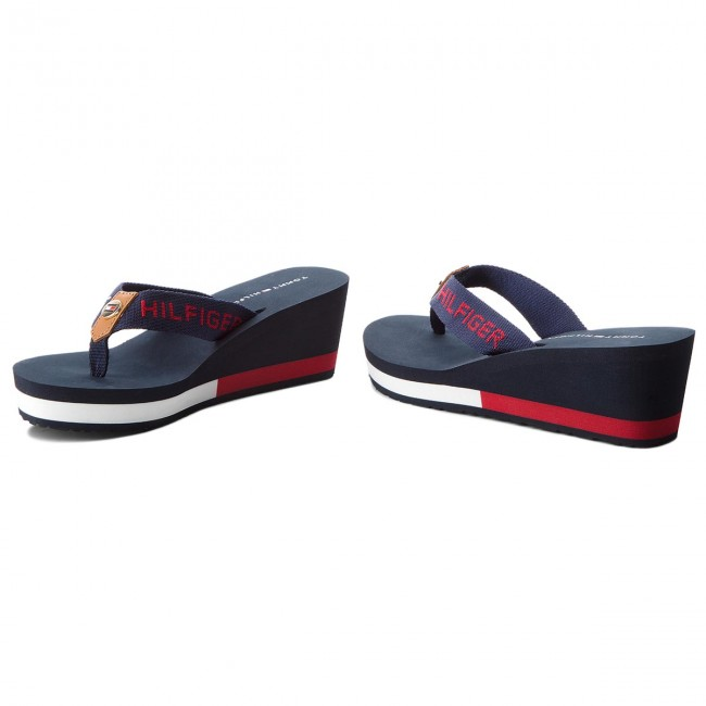 17c60d77c7 Žabky TOMMY HILFIGER - Corporate Beach Sandal FW0FW02958 Midnight ...