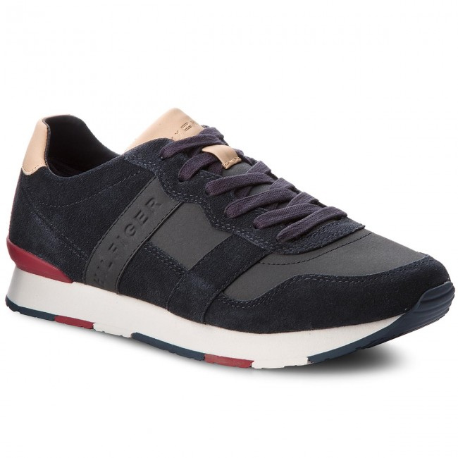 Sneakersy TOMMY HILFIGER - City Casual Material Mix Runner FM0FM01624  Midnight 403 9a2b5c8db5
