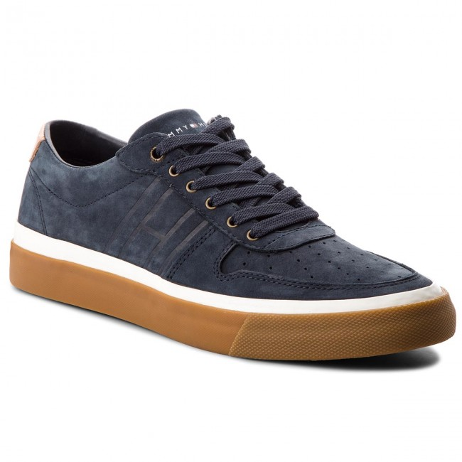 f38ee61724a Sneakersy TOMMY HILFIGER - Unlined Low Cut Nubuck Sneaker FM0FM01633  Midnight 403