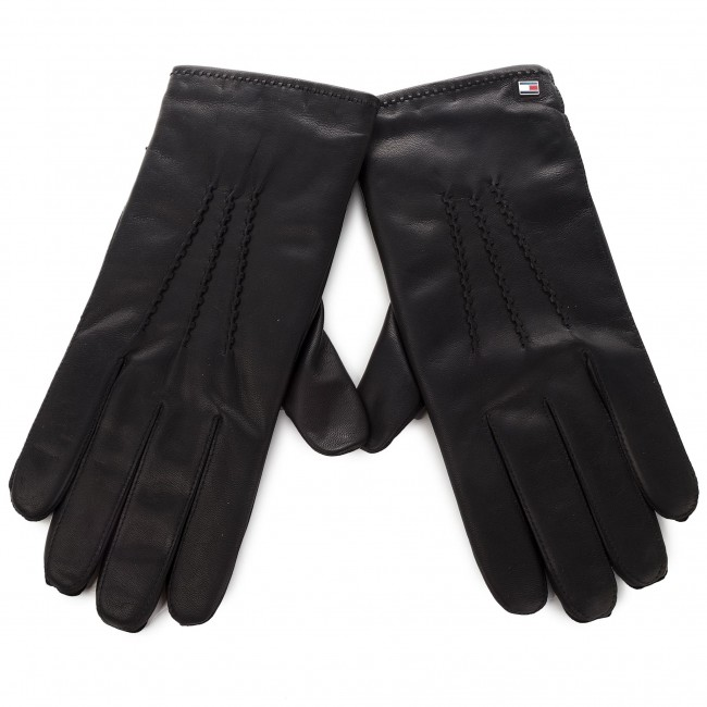 Pánské rukavice TOMMY HILFIGER - Basic Leather Gloves AM0AM04147 002 ... 3438e6b78c