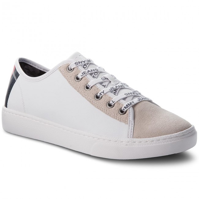 7f9a5ade4443e Sneakersy TOMMY JEANS - Color Mix Light Sneaker EM0EM00124 White 100 ...