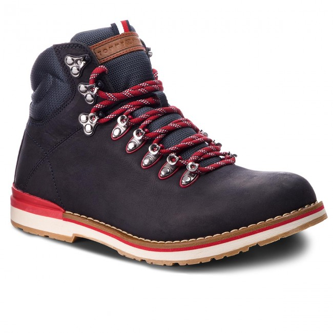 Turistická obuv TOMMY HILFIGER - Outdoor Hiking Detail Boot FM0FM01755  Midnight 403 e1f89ffcb8