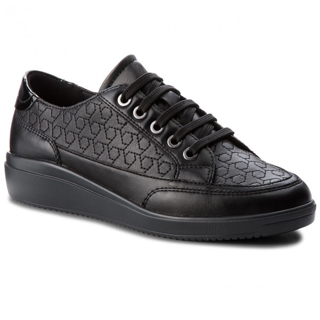 Sneakersy GEOX - D Tahina C D84BDC 00054 C9999 Black - Sneakersy ... 3e06dce7ce