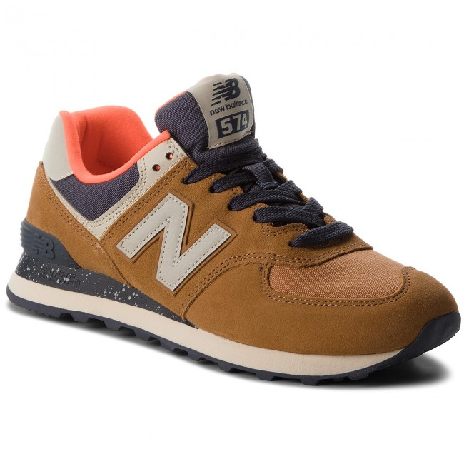 Sneakersy NEW BALANCE - ML574HVB Hnědá - Sneakersy - Polobotky ... 18726cd072