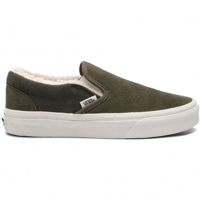 4f804833926 Tenisky VANS - Classic Slip-On VN0A38F7ULZ1 (Suede Sherpa) Grape Leaf